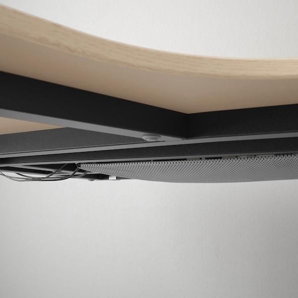 """BEKANT Corner desk-left, white stained oak veneer/black, 63x43 1/4 """""""