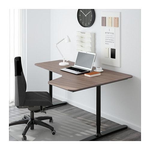 bekant corner desk right gray black 63x43 1 4 ikea. Black Bedroom Furniture Sets. Home Design Ideas