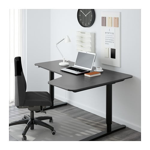 BEKANT Corner desk right sit/stand IKEA 10-year Limited Warranty.   Read about the terms in the Limited Warranty brochure.