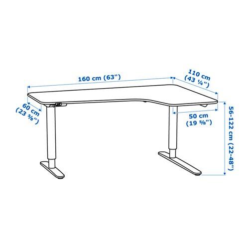 Exact Measurements Of Bekant Ikea
