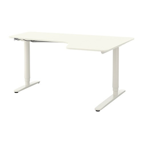 BEKANT Corner Desk Right Sitstand White IKEA - Corner conference table