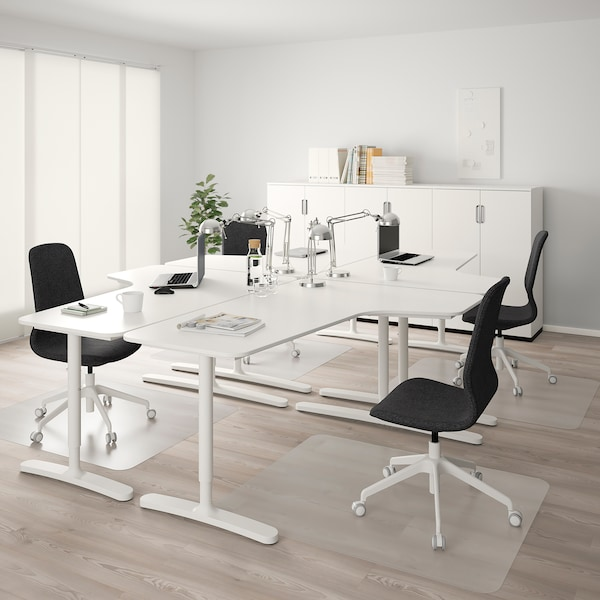 "BEKANT Corner desk-right, white, 63x43 1/4 """