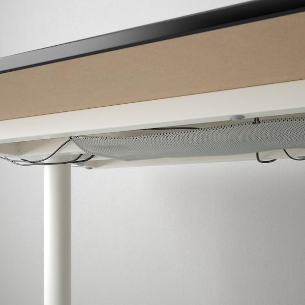 """BEKANT Desk, black stained ash veneer/white, 63x31 1/2 """""""