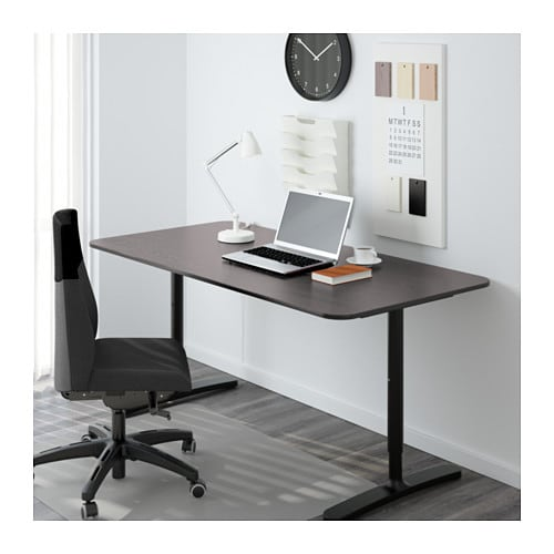 Bekant Desk Black Brown Black Ikea