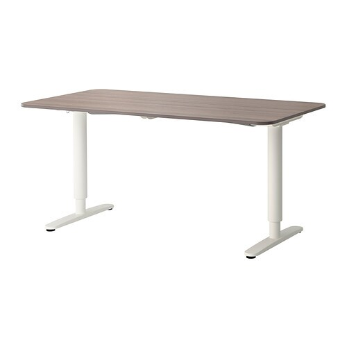 BEKANT Desk sit/stand - gray/white - IKEA