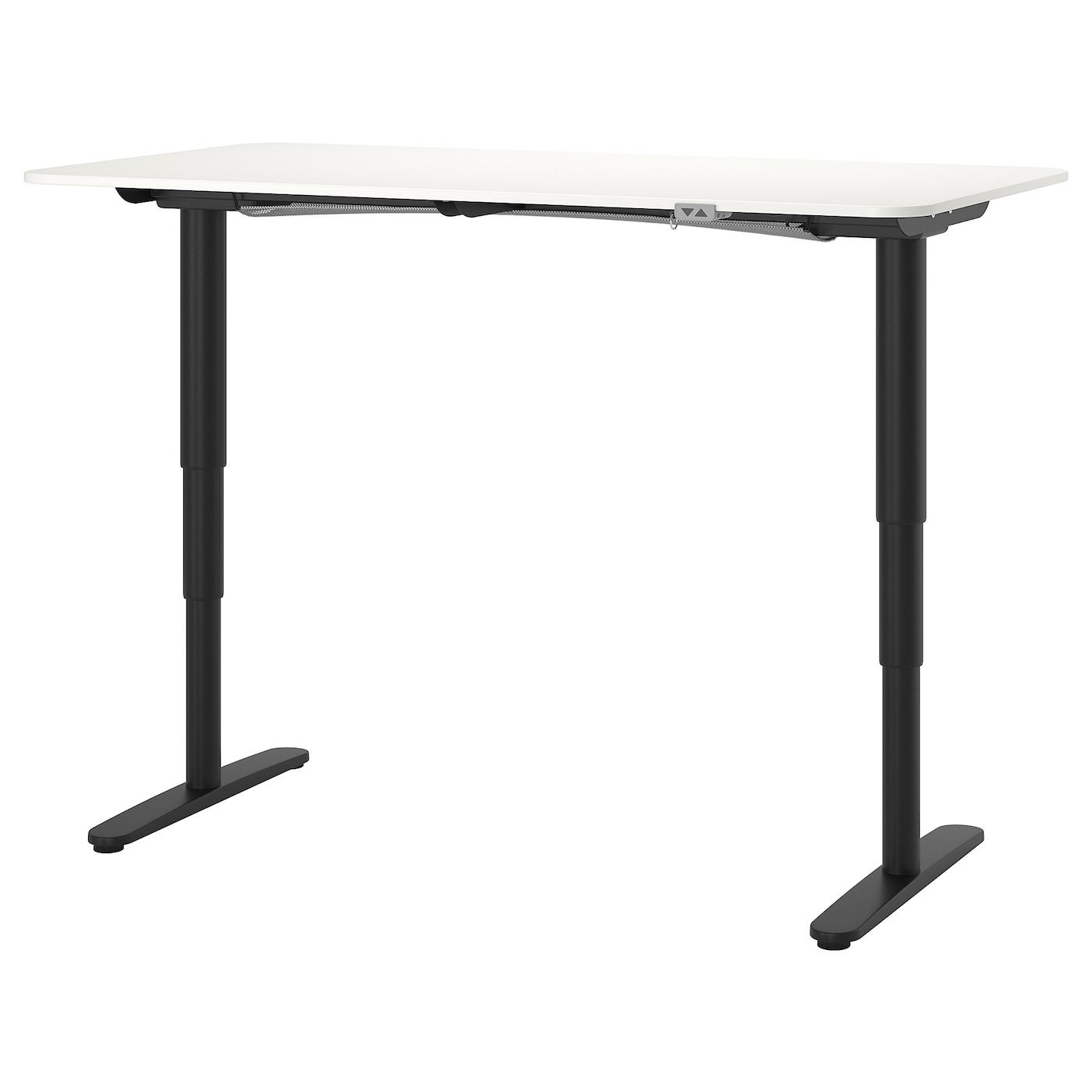 "BEKANT Desk sit/stand - white/black 38x38 38/38 """