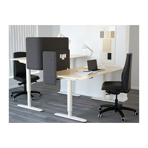 bekant desk sitstand with screen birch veneerwhite ikea bekant desk sit stand screen