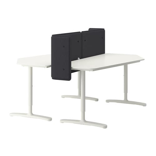 Ikea Poang Chair Cover Tutorial ~ BEKANT Desk with screen IKEA You can mount the table top at a height