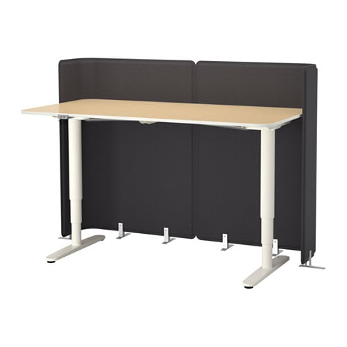 bekant reception desk sitstand white 160x80 120 cm ikea bekant desk sit stand ikea