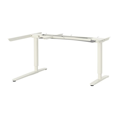 Bekant Sit Stand Underframe Corner Table White Ikea