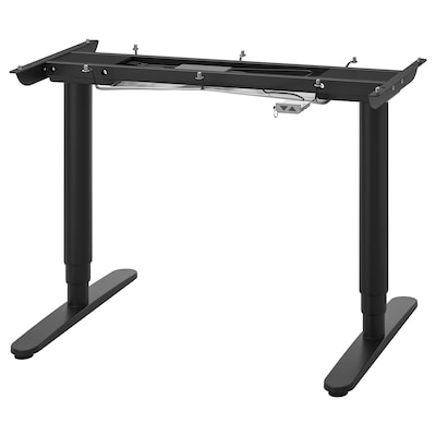 """BEKANT Sit/stand underframe for table top, black, 47 1/4x31 1/2 """""""