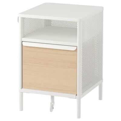 """BEKANT storage unit on legs mesh white 16 1/8 """" 17 3/4 """" 24 """""""