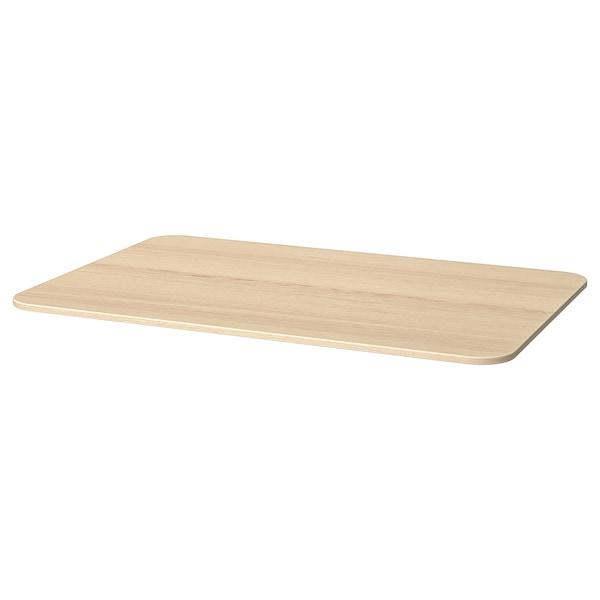 """BEKANT Tabletop, white stained oak veneer, 47 1/4x31 1/2 """""""