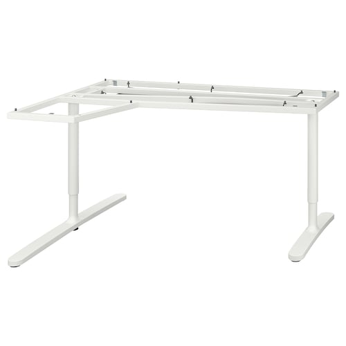 "BEKANT underframe for corner table top white 37 3/4 "" 57 1/2 "" 63 "" 43 1/4 "" 25 5/8 "" 33 1/2 "" 220 lb"