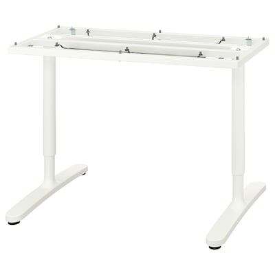 "BEKANT underframe for table top white 18 1/8 "" 41 3/4 "" 47 1/4 "" 31 1/2 "" 25 5/8 "" 33 1/2 "" 220 lb"