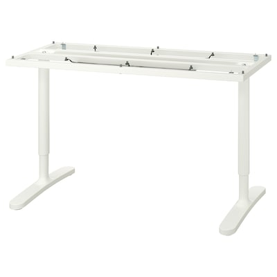 "BEKANT underframe for table top white 18 1/8 "" 49 5/8 "" 55 1/8 "" 23 5/8 "" 25 5/8 "" 33 1/2 "" 220 lb"