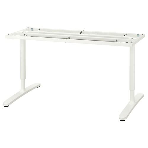 "BEKANT underframe for table top white 18 1/8 "" 57 1/2 "" 63 "" 31 1/2 "" 25 5/8 "" 33 1/2 "" 220 lb"