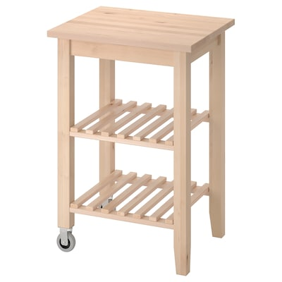 BEKVÄM Kitchen cart, birch, 22 7/8x19 5/8 ""