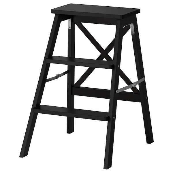 Awesome Stepladder 3 Steps Bekvam Black Squirreltailoven Fun Painted Chair Ideas Images Squirreltailovenorg