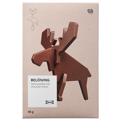 BELÖNING Milk chocolate moose, self-assembly UTZ certified, 3 oz