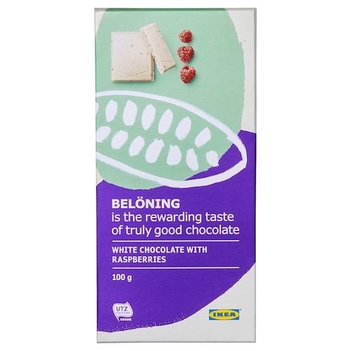 IKEA BELÖNING White chocolate tablet