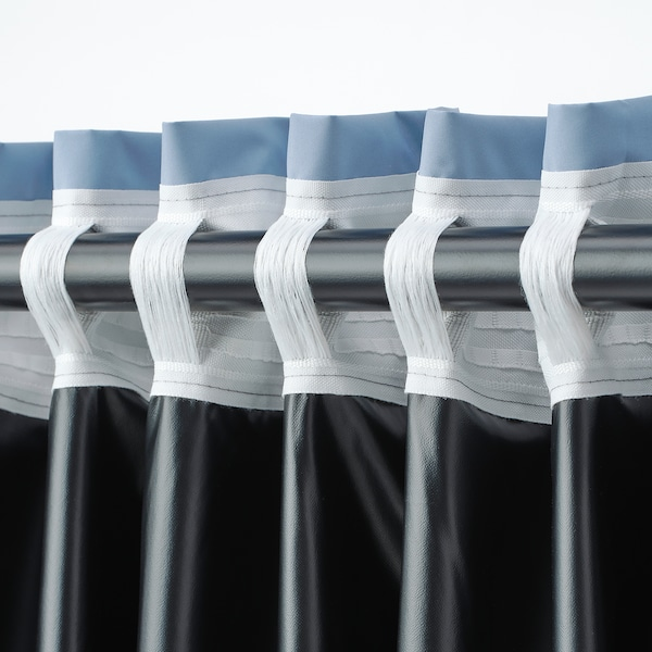 "BENGTA black-out curtain, 1 length blue 98 "" 83 "" 1 lb 11 oz 56.51 sq feet 1 pack"