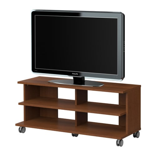 Tv Table Ikea : BENNO TV unit with casters IKEA Casters included for easy mobility ...