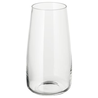 BERÄKNA Vase, clear glass, 11 ¾ ""