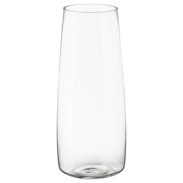 """BERÄKNA Vase, clear glass, 17 ¾ """""""