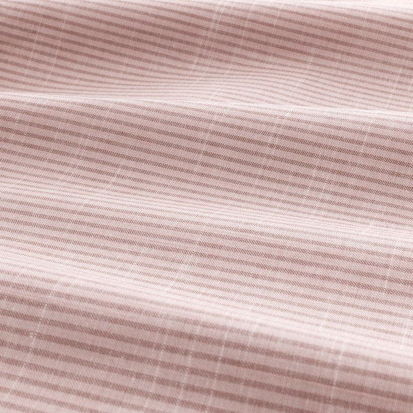BERGPALM Duvet cover and pillowcase(s), pink/stripe, King