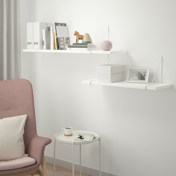 "BERGSHULT / PERSHULT Wall Shelf Combination, White, White, 47 1/4x11 3/4"". Add To Cart! - IKEA"