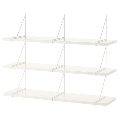 IKEA BERGSHULT / PERSHULT Wall shelf combination