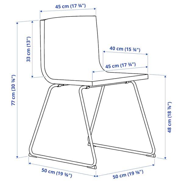 BERNHARD Chair, chrome plated/Mjuk dark brown