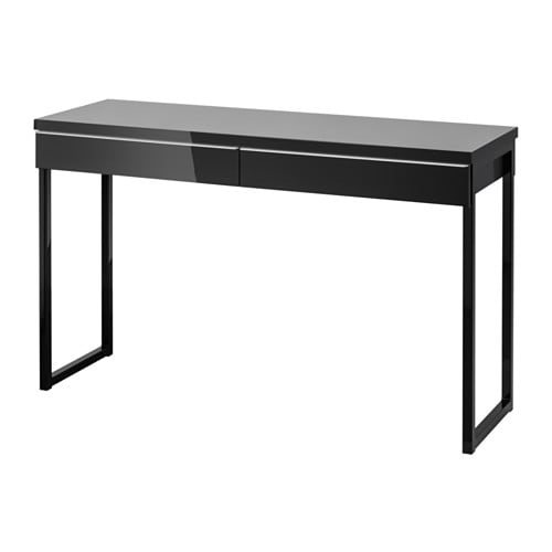 best burs desk high gloss black ikea. Black Bedroom Furniture Sets. Home Design Ideas