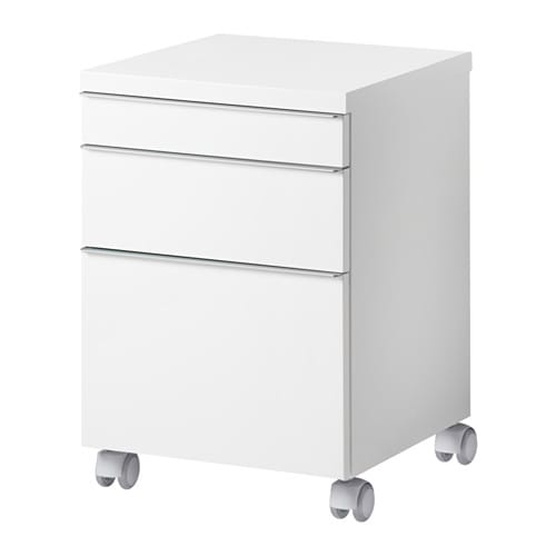 Best burs drawer unit on casters ikea for Table a roulettes ikea