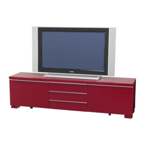 BESTÅ BURS TV unit IKEA Two large drawers included.  Plenty of space for TV games and accessories.