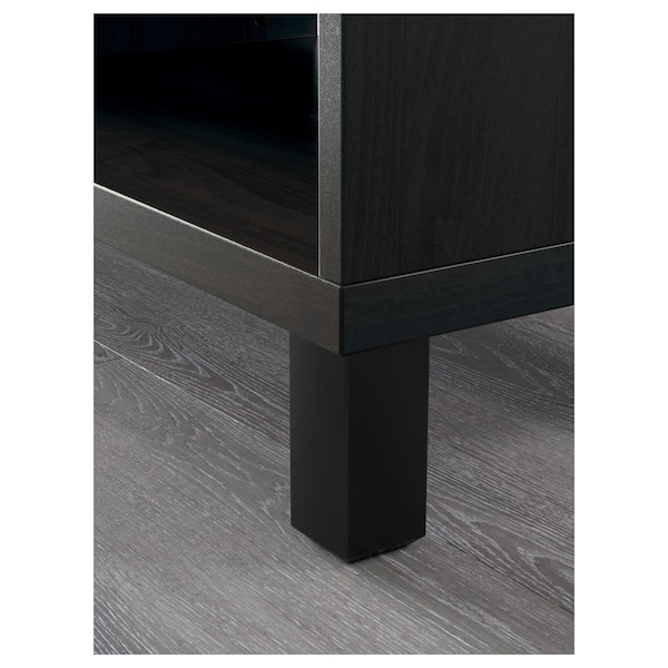 "BESTÅ Cabinet, black-brown, 23 5/8x15 3/4x79 1/2 """
