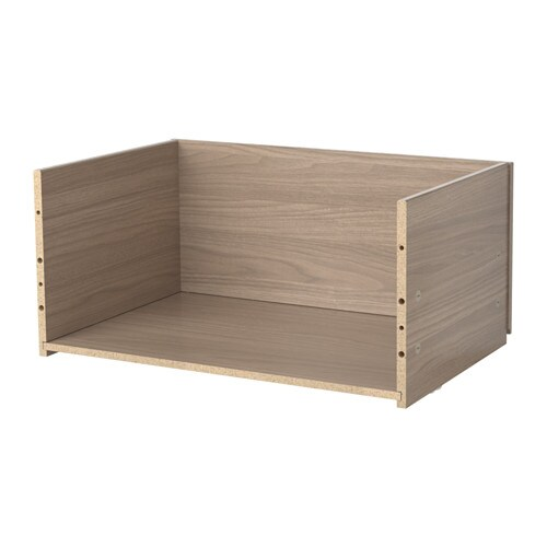 best 197 drawer frame walnut effect light gray ikea