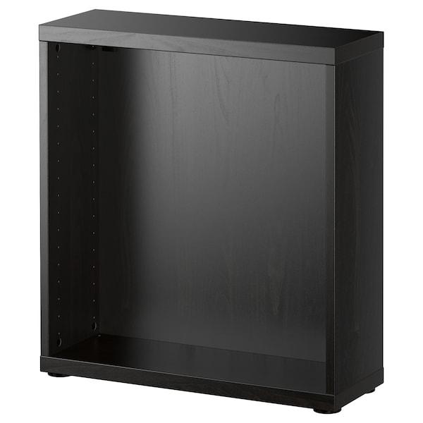 "BESTÅ Frame, black-brown, 23 5/8x7 7/8x25 1/4 """