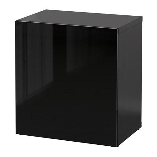 Best shelf unit with door black brown selsviken high gloss black 23 5 8x1 - Plaque en verre ikea ...