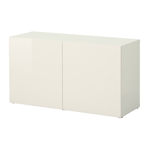 best shelf unit with doors white selsviken high gloss white 120x40x64 cm ikea. Black Bedroom Furniture Sets. Home Design Ideas