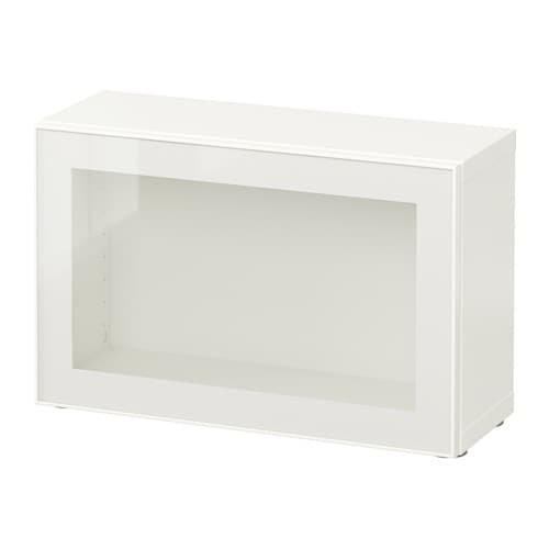 BESTÅ Shelf unit with glass door, white, Glassvik white/clear glass | Tuggl