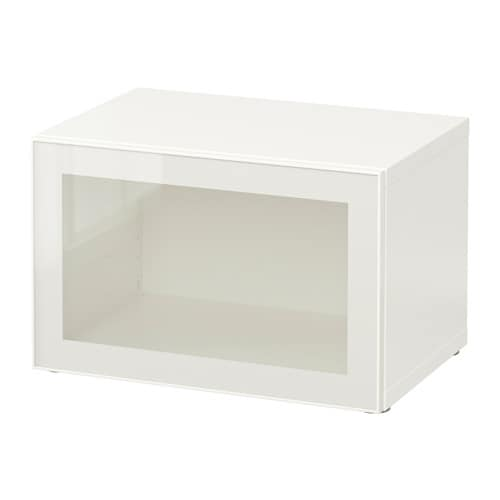 Best shelf unit with glass door white glassvik white - Ikea estanteria besta ...