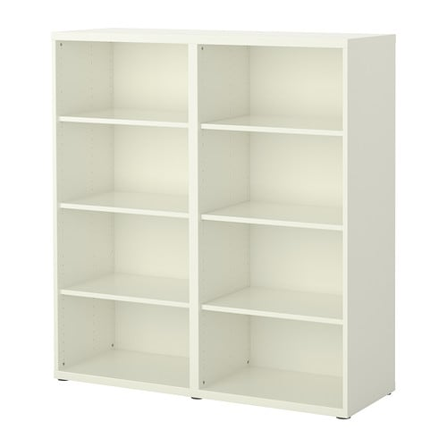 BESTÅ Shelf unit IKEA 6 adjustable shelves; adjust spacing according to your needs.  Adjustable feet for stability on uneven floors.