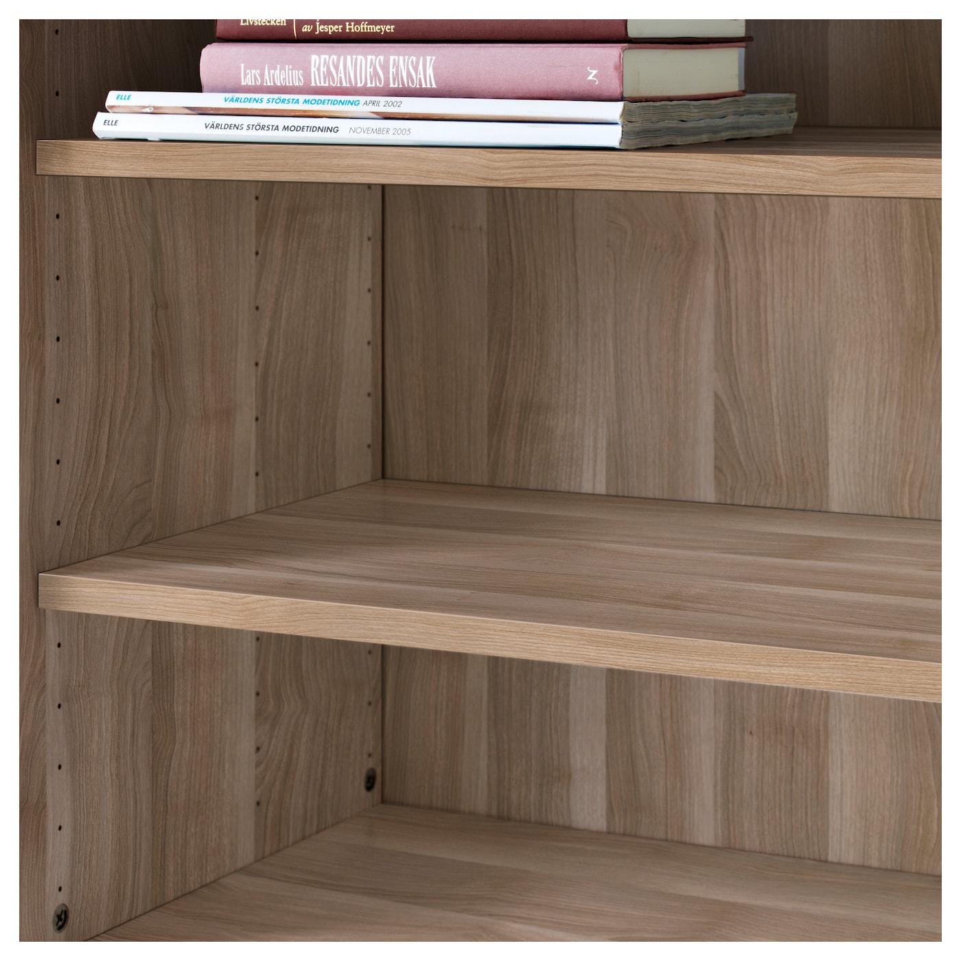 "BESTÅ Shelf - walnut effect light gray 22x14 1/8 """