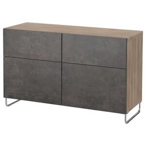 Color: Walnut effect light gray kallviken/sularp/dark gray concrete effect.