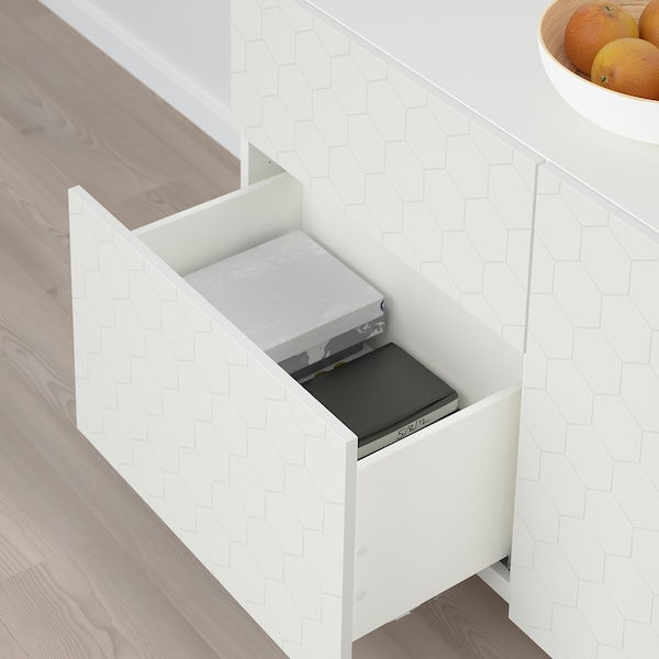 "BESTÅ storage combination w doors/drawers white/Vassviken/Stubbarp white 47 1/4 "" 15 3/4 "" 29 1/8 """
