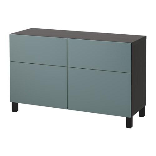 best storage combination w doors drawers black brown valviken gray turquoise 47 1 4x15 3. Black Bedroom Furniture Sets. Home Design Ideas