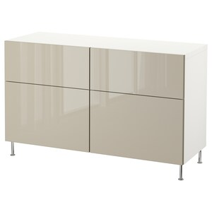 Color: White/selsviken/stallarp high-gloss/beige.