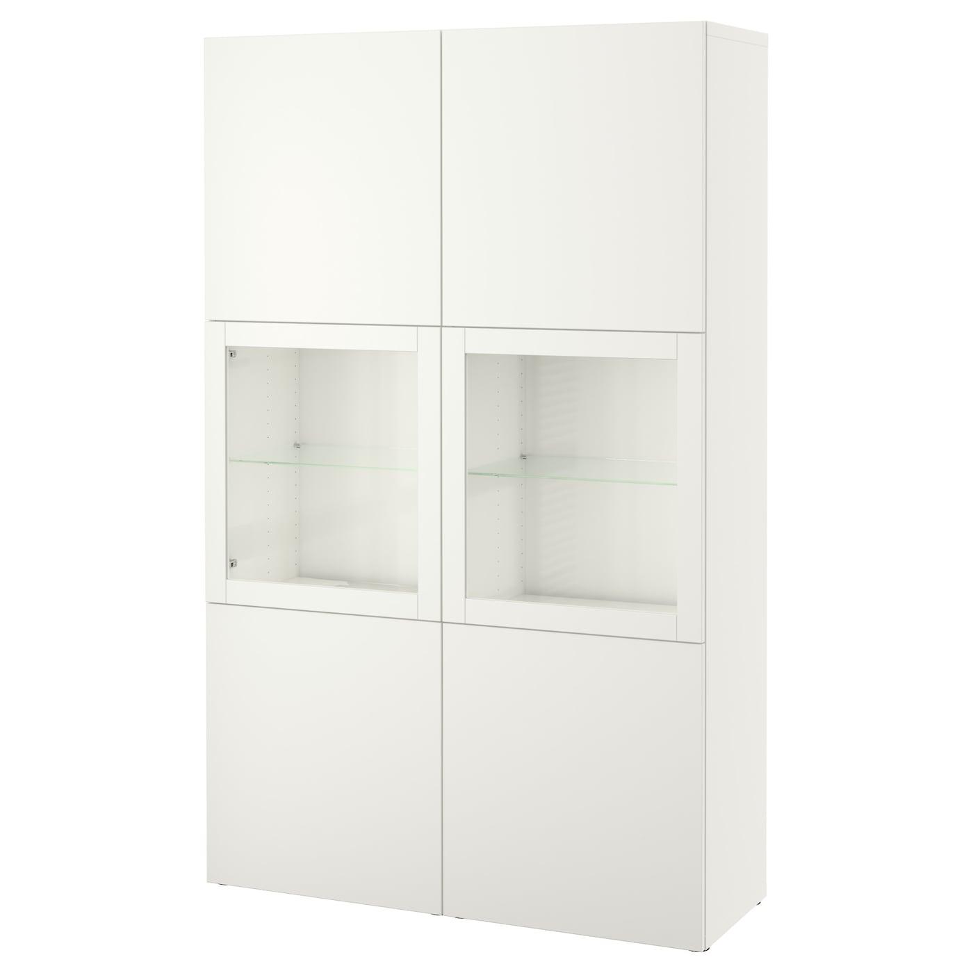 Besta Storage Combination W Glass Doors Lappviken Sindvik White